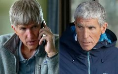 Rick Singer, mastermind behind the college admissions bribery scheme, on the right; Matthew Modine, who portrays Rick Singer in Operation Varsity Blues, on the left.